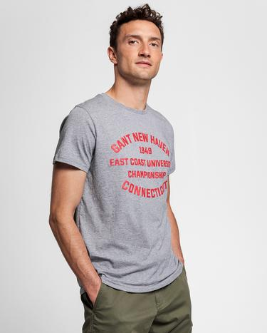 GANT Erkek Gri Regular Fit T-Shirt