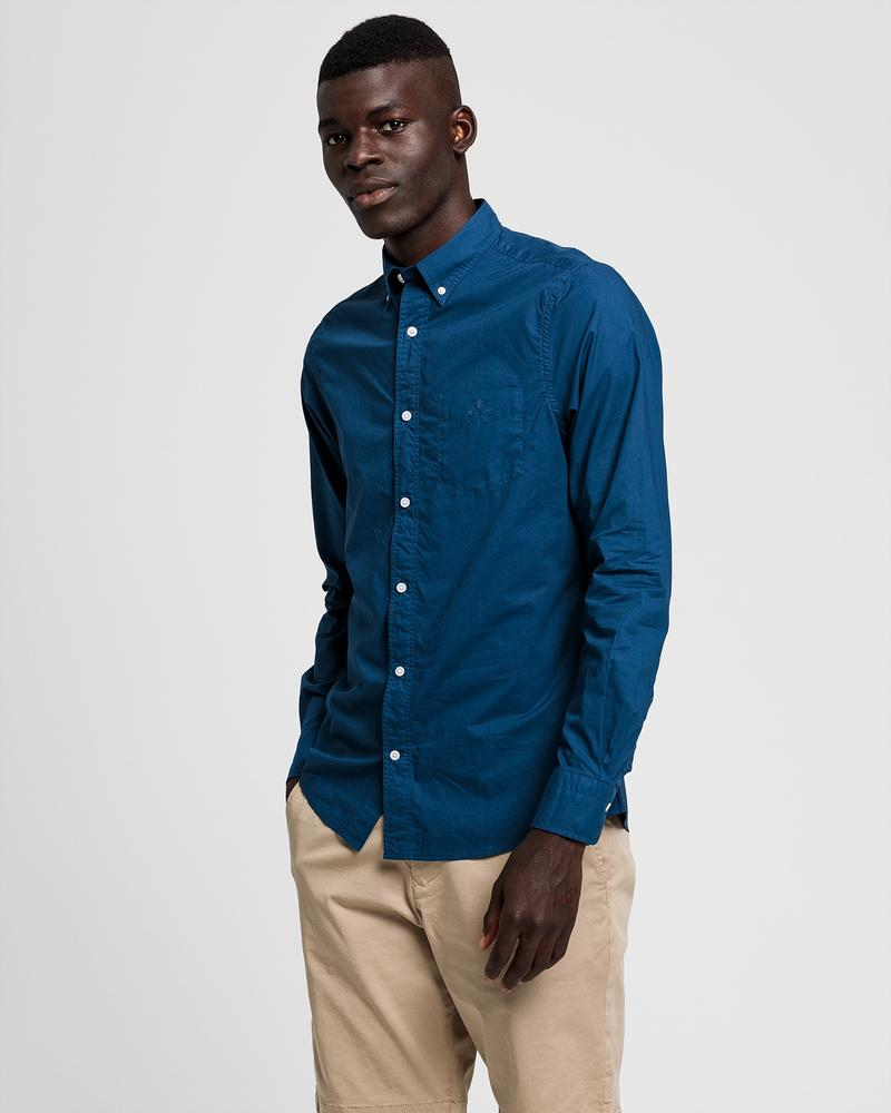 GANT Erkek Mavi Gömlek