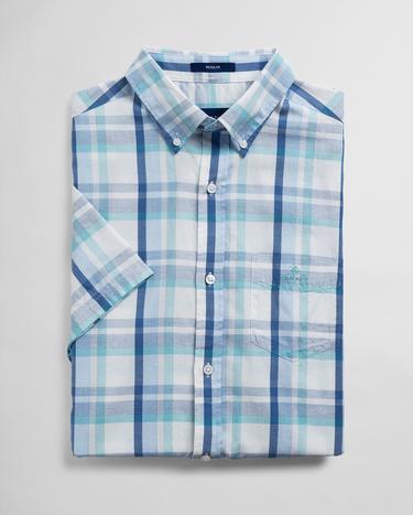 Gant Erkek Krem Regular Fit Kareli Gömlek