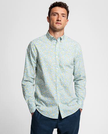 GANT Erkek Beyaz Desenli Regular Fit Gömlek