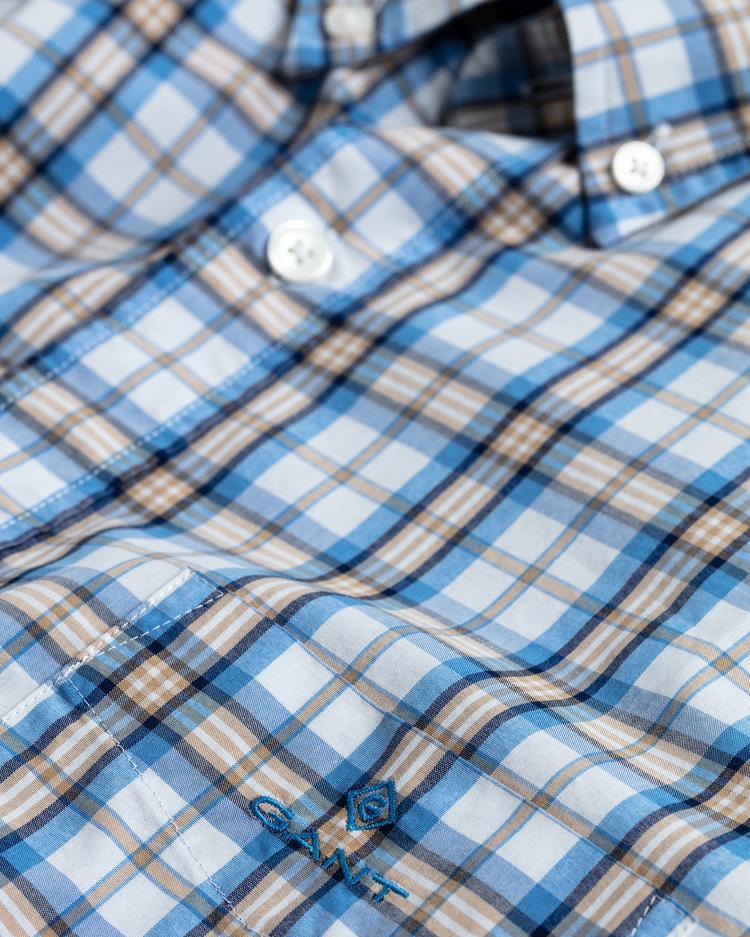GANT Erkek Bej Regular Fit Kareli Gömlek