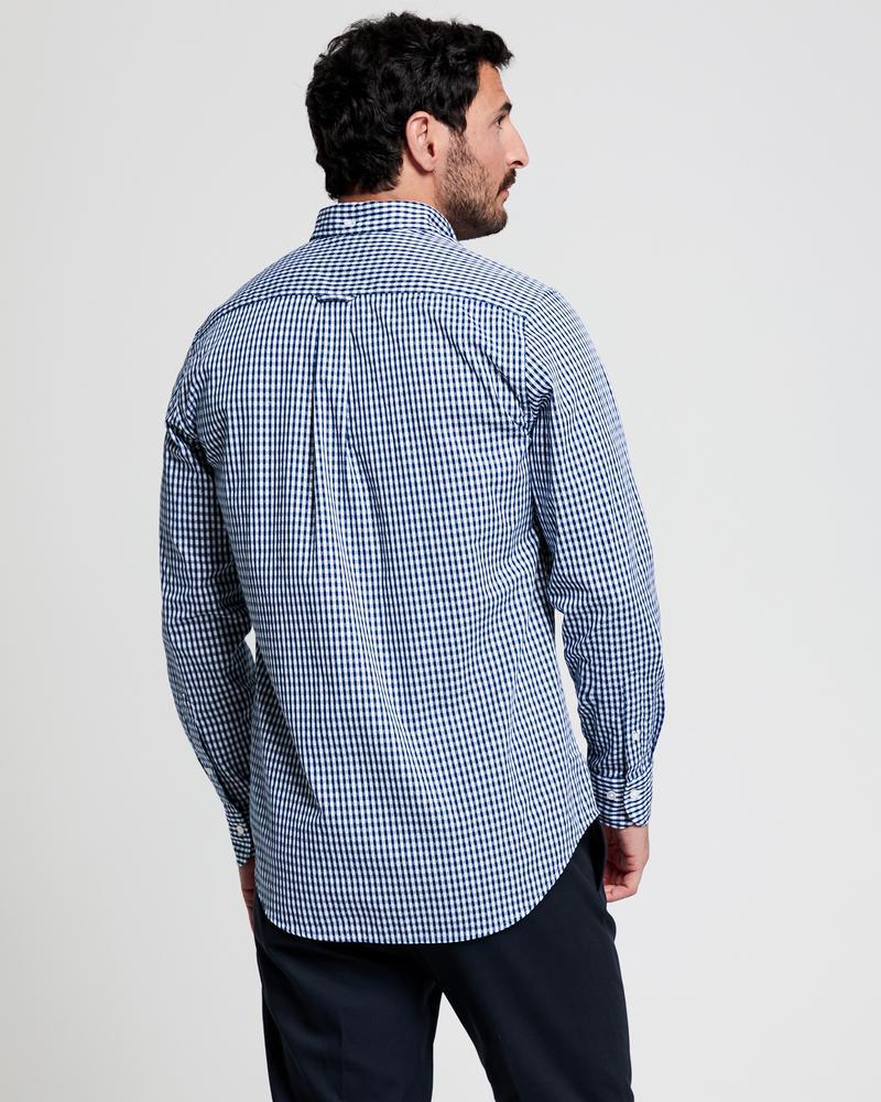 GANT Erkek Kareli Lacivert-Beyaz Regular Fit Gömlek