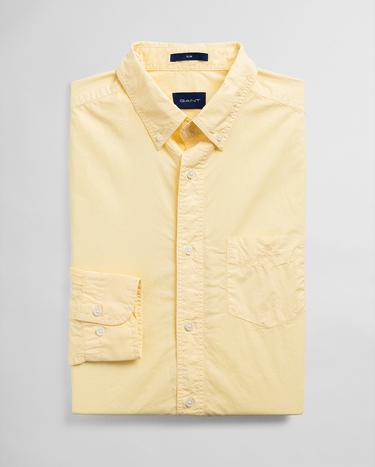 GANT Erkek Sarı Slim Fit Gömlek