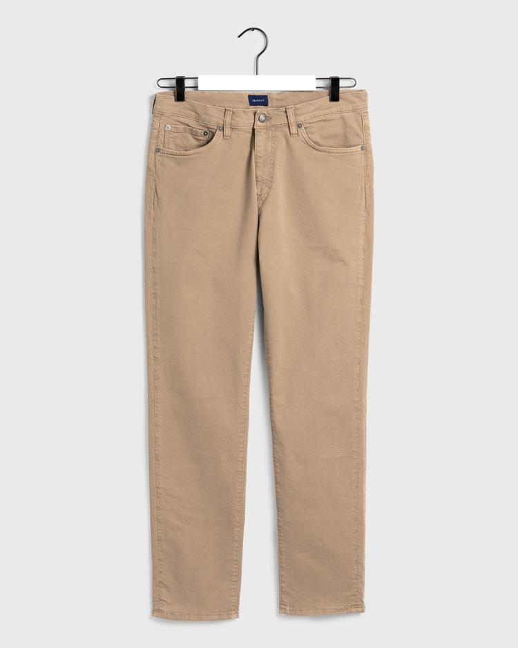 GANT Erkek Bej Slim Fit Denim Pantolon