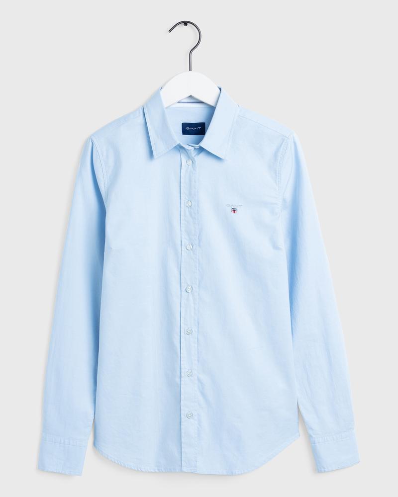 GANT Kadın Açık Mavi Stretch Oxford Gömlek