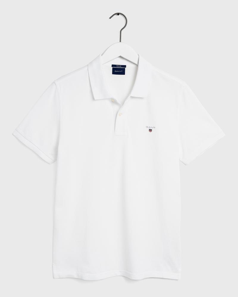 GANT Erkek Beyaz Regular Fit Kısa Kollu Polo