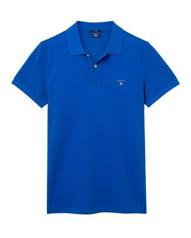 Gant Erkek Mavi Kısa Kollu Polo