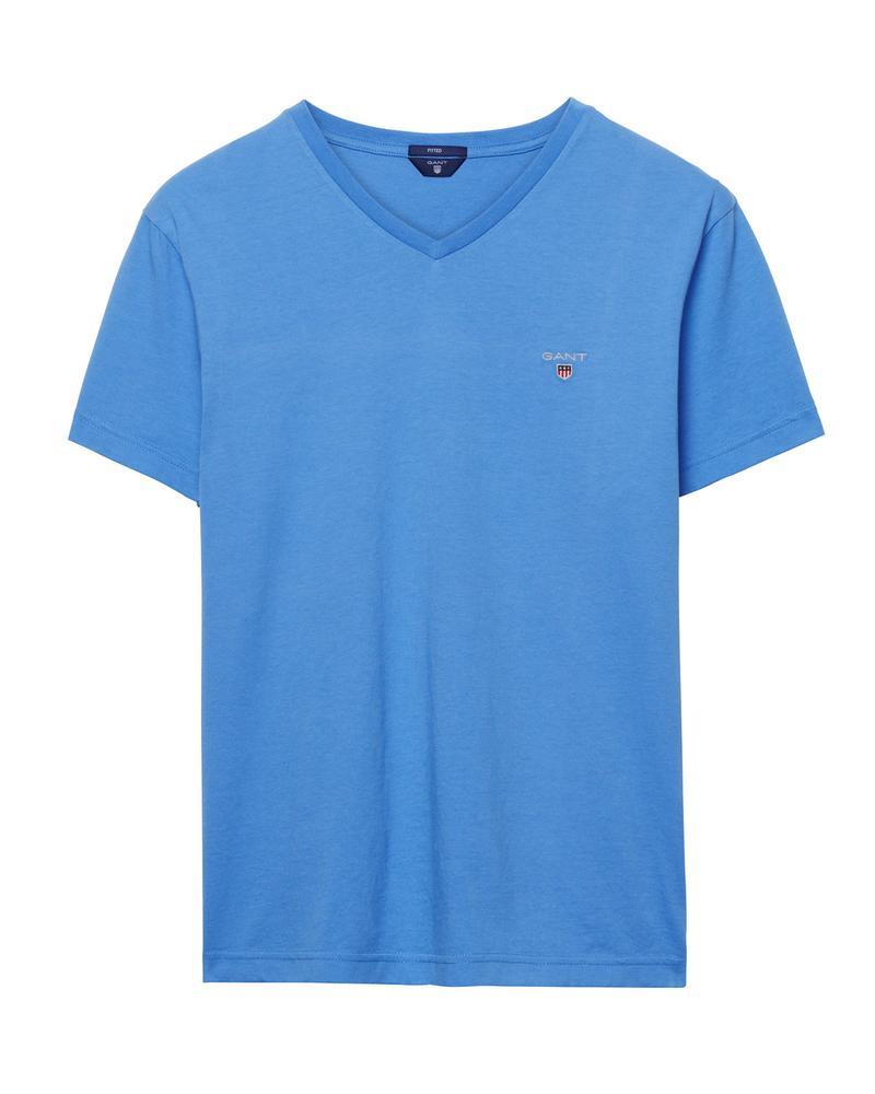 Gant Erkek Mavi Slim Fit Tshirt