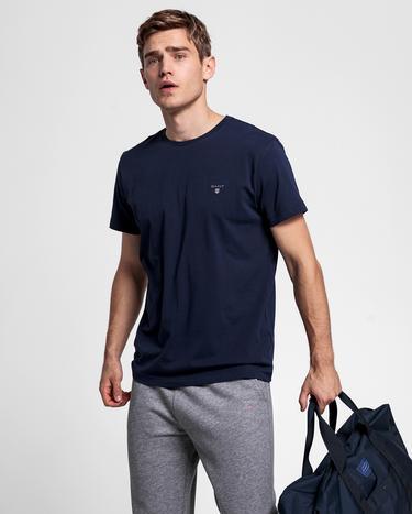 GANT Erkek Lacivert V Yaka T-Shirt