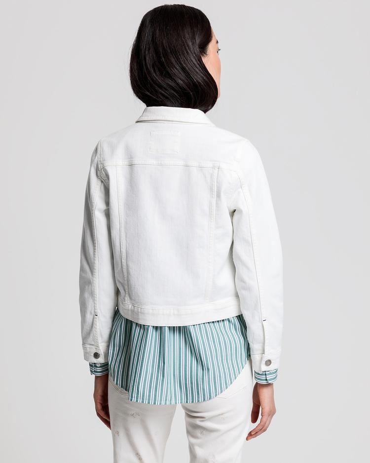 GANT Kadın Krem Denim Ceket