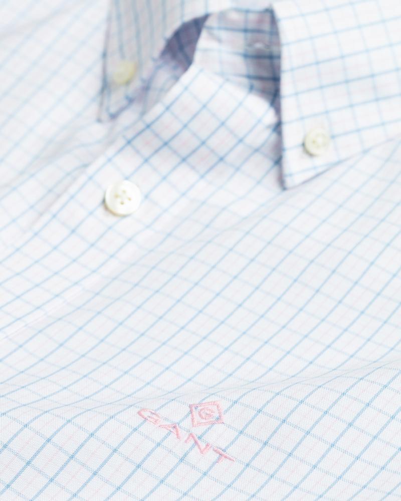 GANT Erkek Pembe Regular Fit Kareli Gömlek