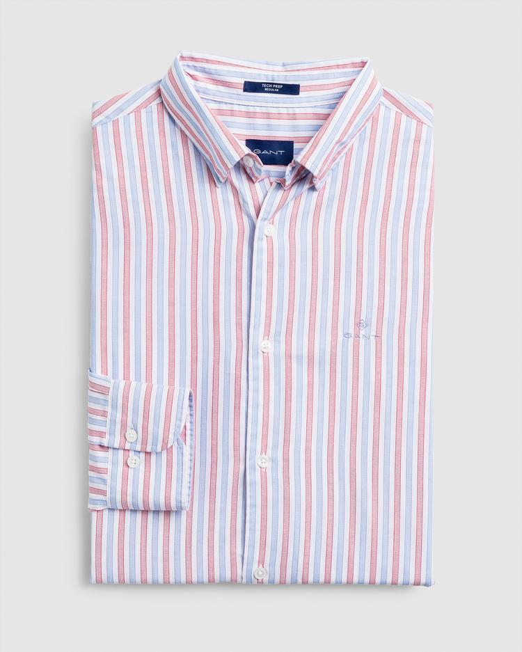 Gant Erkek Kırmızı Çizgili Regular Fit Gömlek