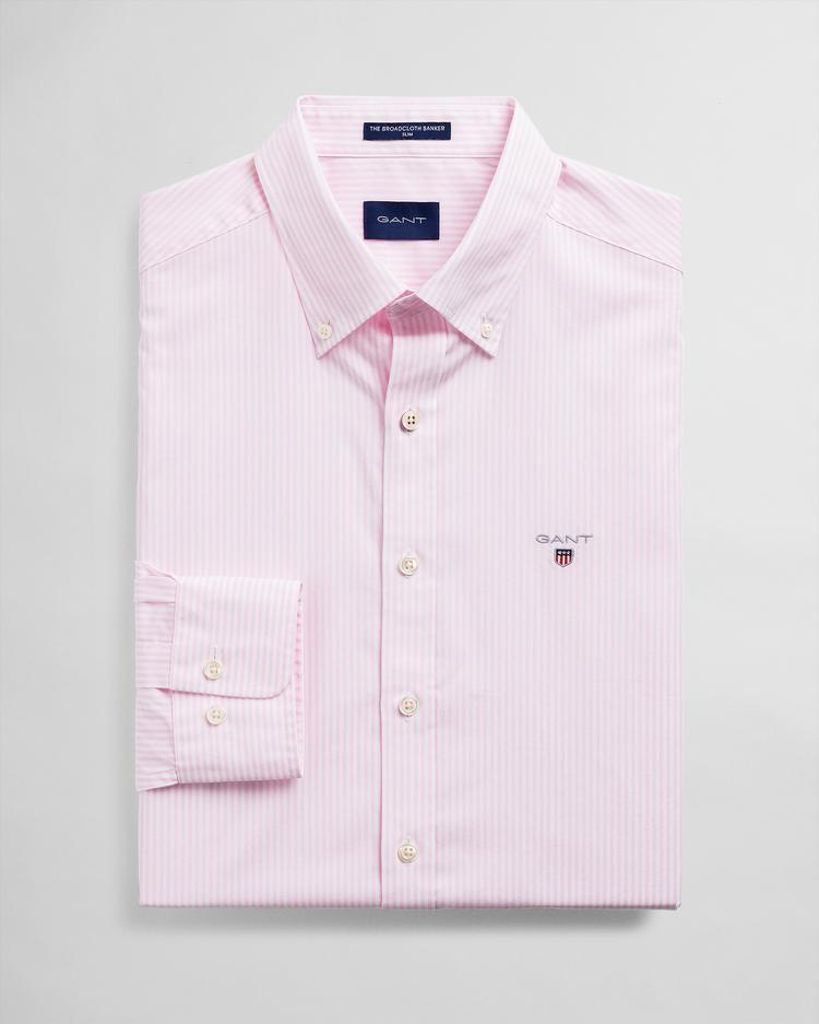 Gant Erkek Pembe Çizgili Gömlek