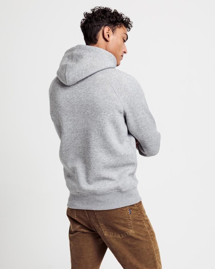 GANT Erkek Gri Kapüşonlu Sweatshirt