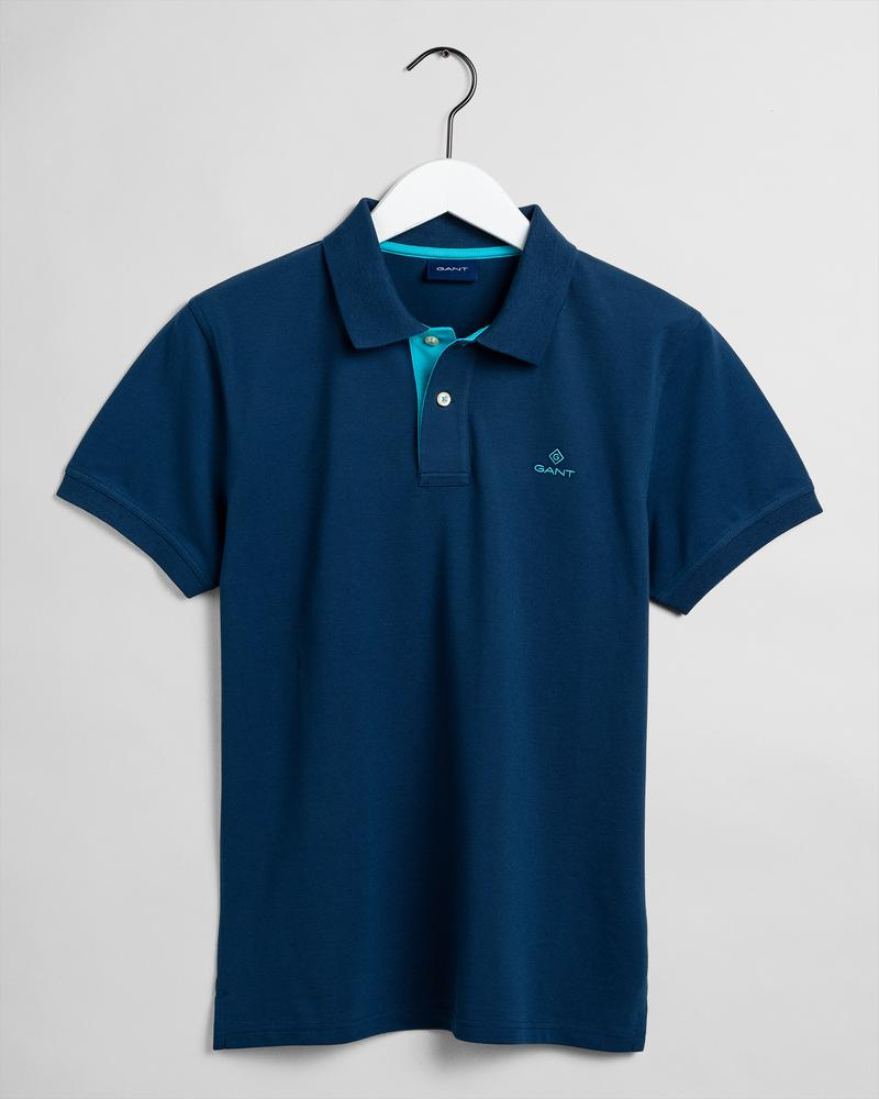 GANT Erkek Lacivert Regular Fit Polo