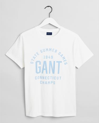 GANT Erkek Krem Regular Fit T-Shirt