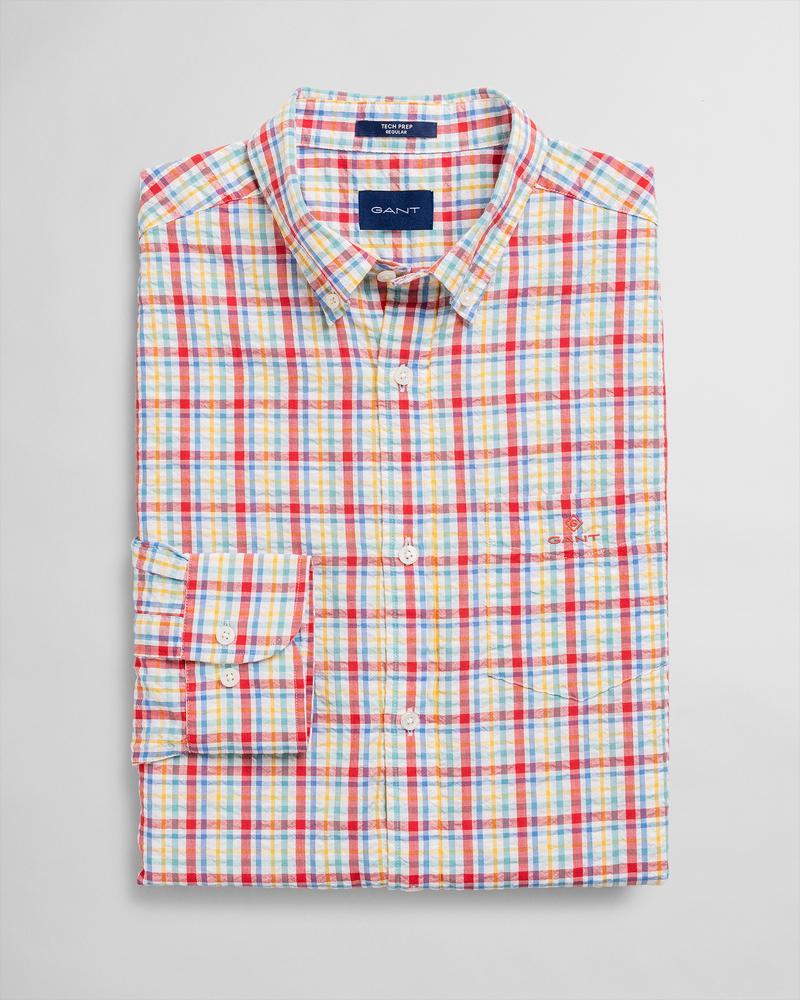 GANT Erkek Pembe Kareli Regular Fit Gömlek