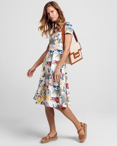 GANT Kadın Krem Desenli Elbise
