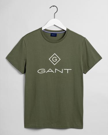 GANT Erkek Yeşil Regular Fit T-Shirt