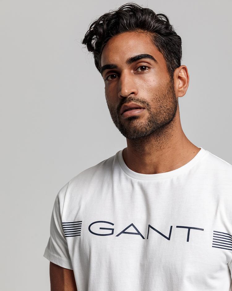 GANT Erkek Beyaz Regular Fit Tshirt