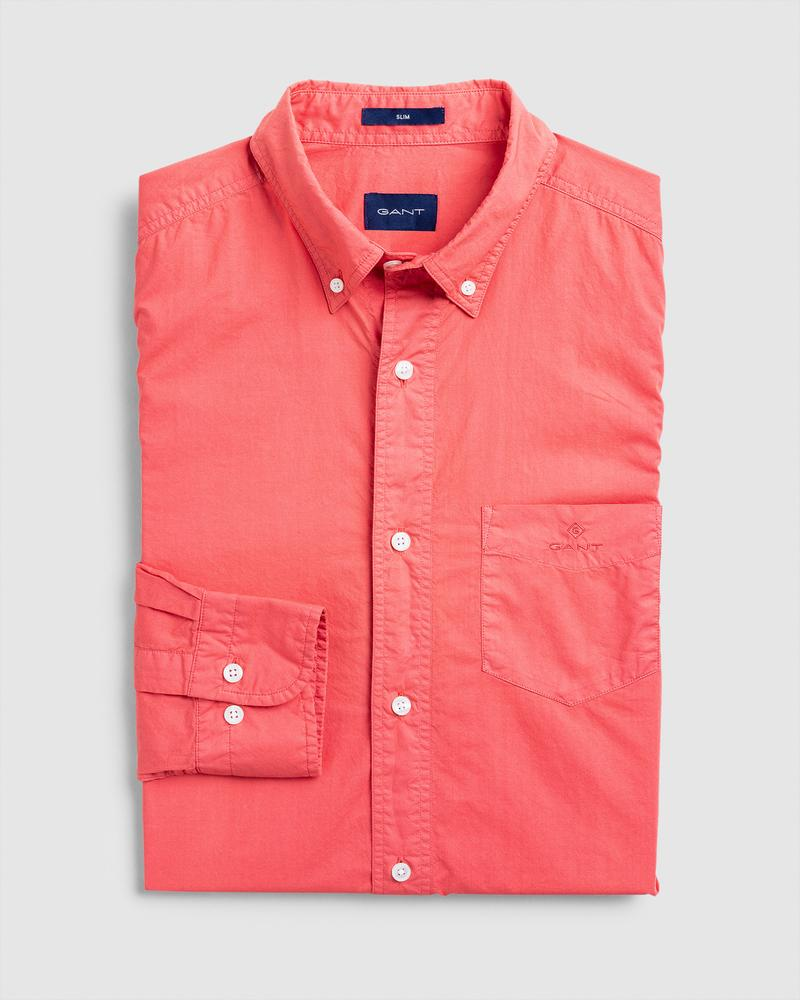 GANT Erkek Kırmızı Slim Fit Gömlek