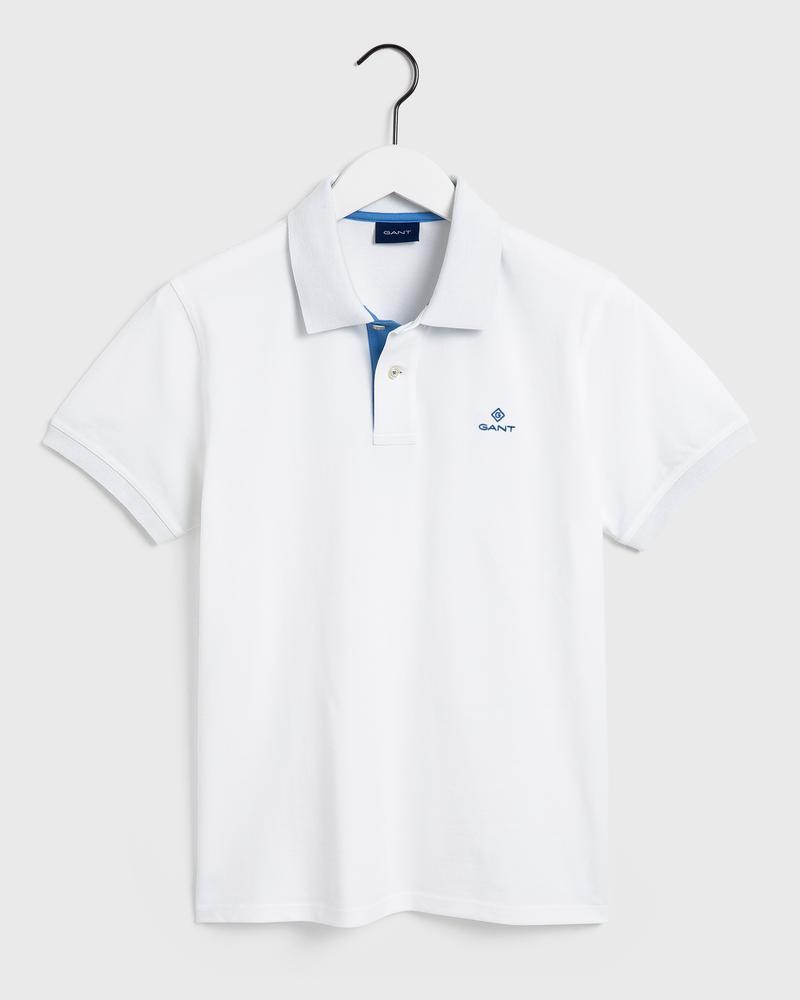GANT Erkek Beyaz Regular Fit Polo