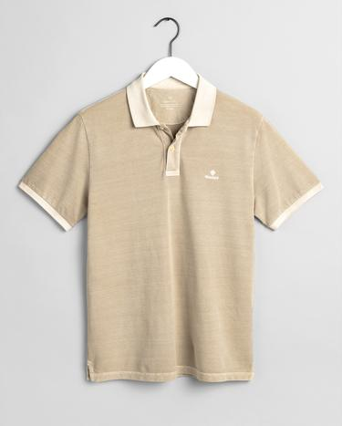 GANT Erkek Bej Regular Fit Pique Rugger Polo