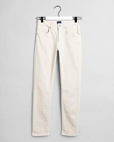 GANT Kadın Krem Slim Fit Twill Pantolon