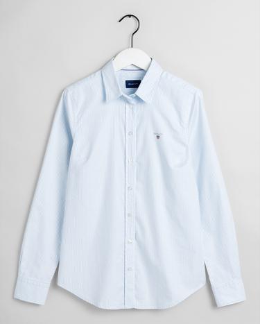 GANT Kadın Mavi Slim Fit Oxford Gömlek