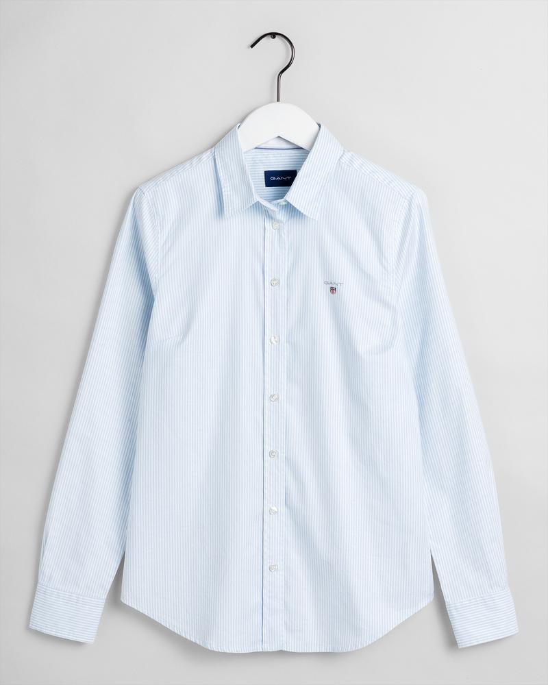 GANT Kadın Mavi Çizgili Gömlek