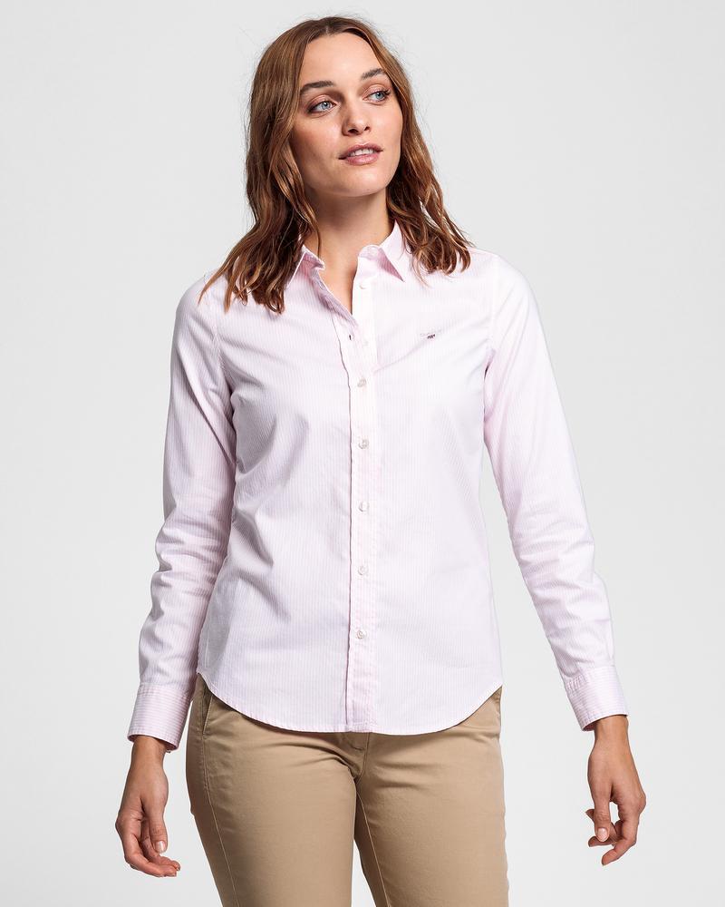 GANT Kadın Pembe Çizgili Gömlek