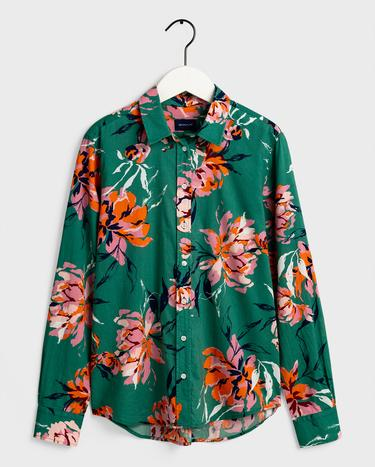 GANT Kadın Yeşil Desenli Gömlek