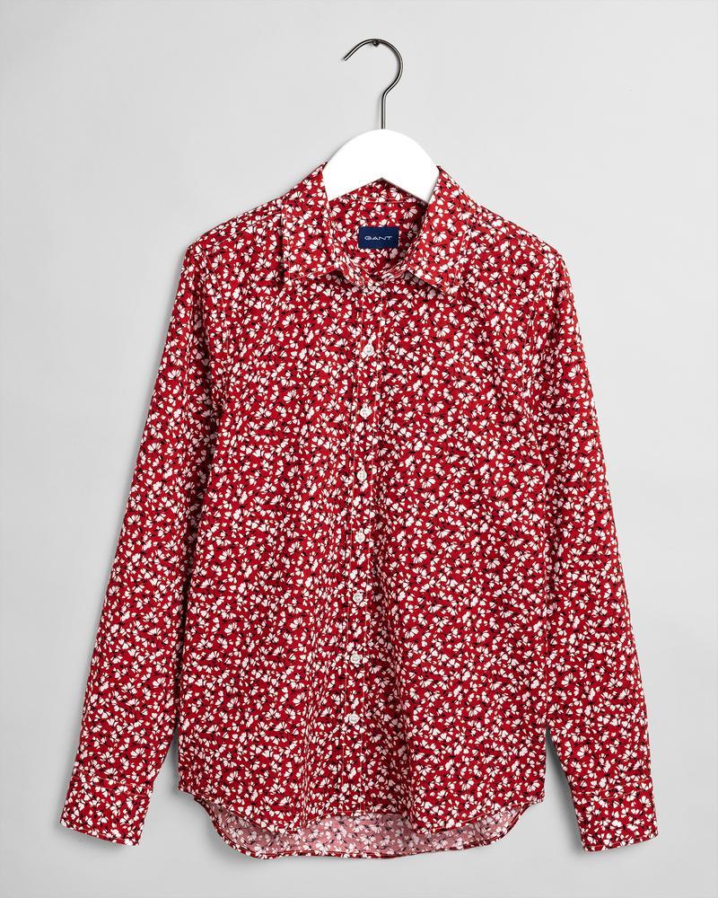 GANT Kadın Kırmızı Desenli Gömlek