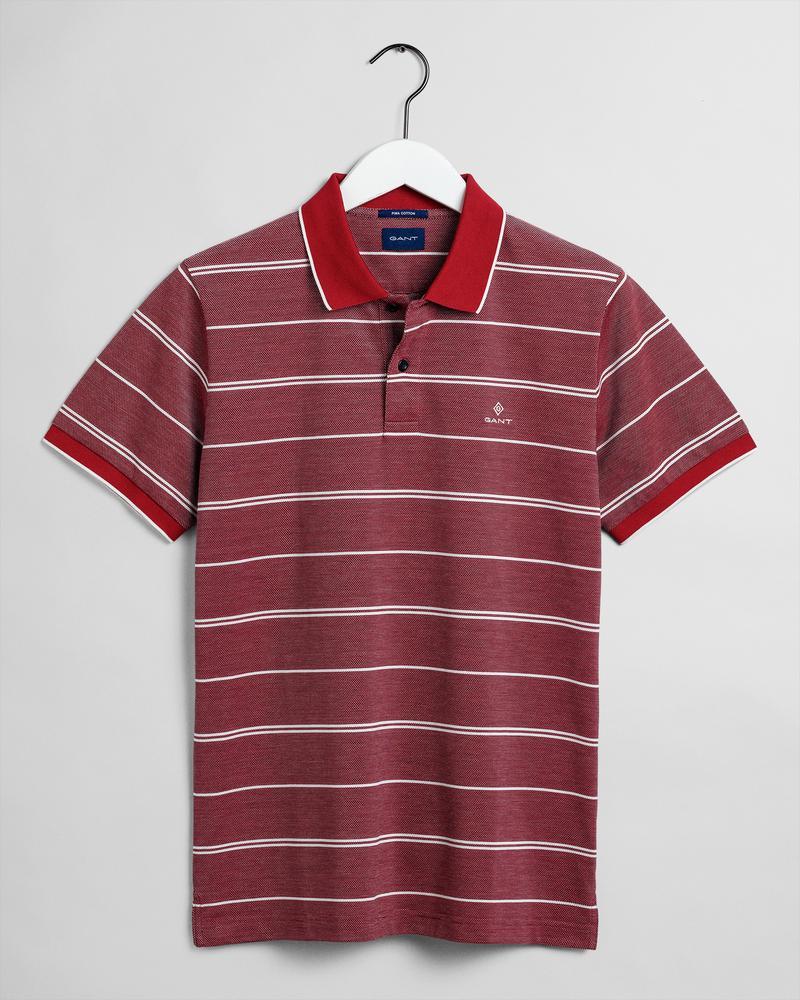 GANT Erkek Kırmızı Çizgili Polo
