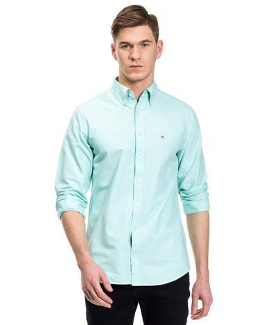 GANT Erkek Yeşil Slim Oxford Gömlek