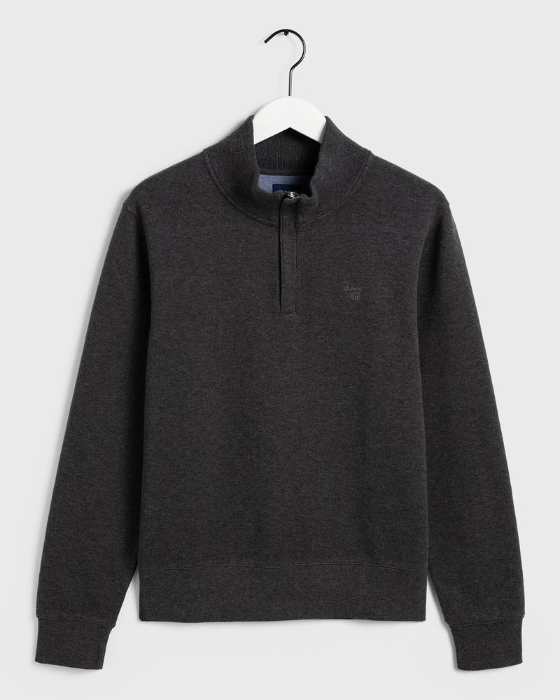 GANT Erkek Antrasit Fermuarlı Sweatshirt