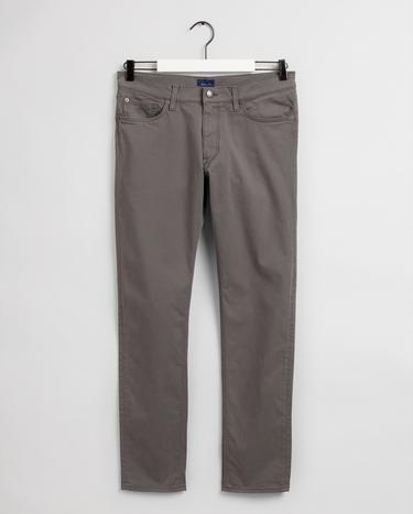 GANT Erkek Gri Tapered Fit Pantolon