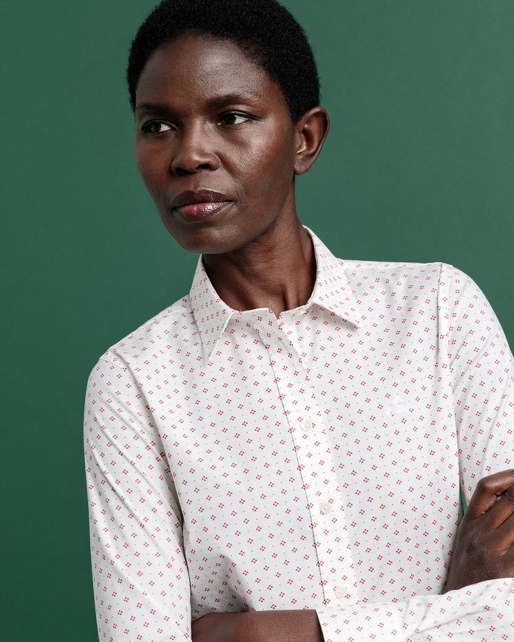 GANT Kadın Beyaz Slim Fit Gömlek