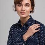 GANT Kadın Lacivert Slim Fit Gömlek