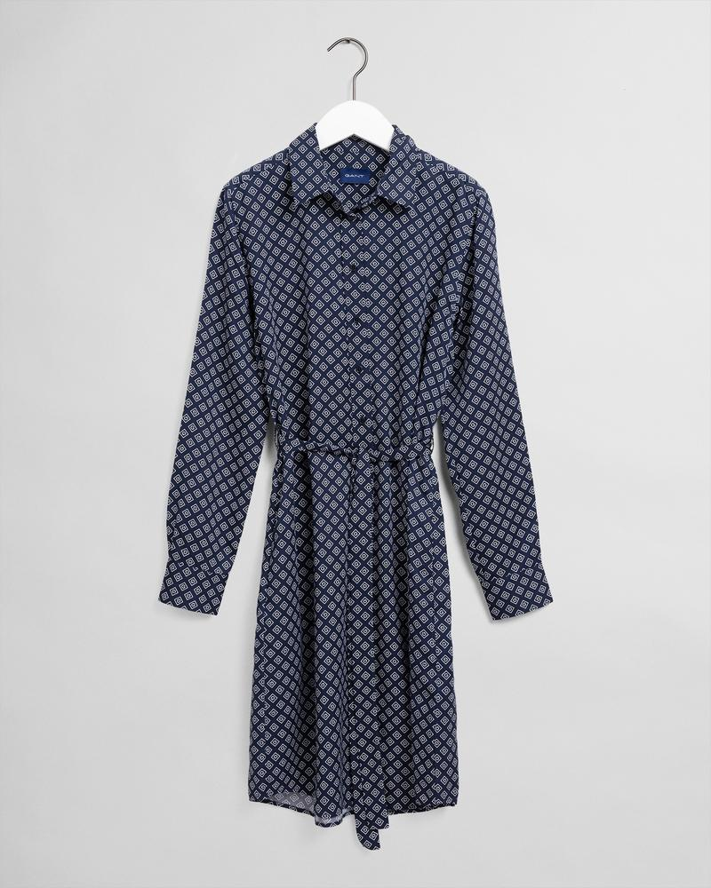 GANT Kadın Lacivert Desenli Elbise