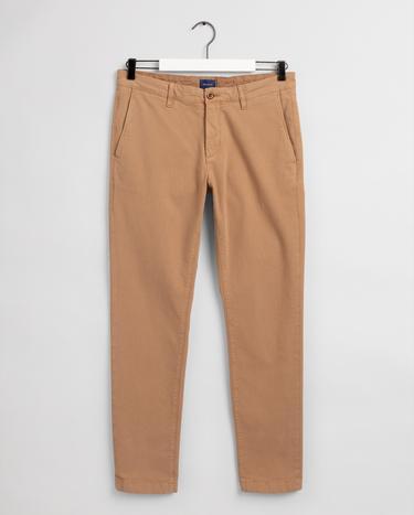 GANT Erkek Haki Slim Fit Chino Pantolon