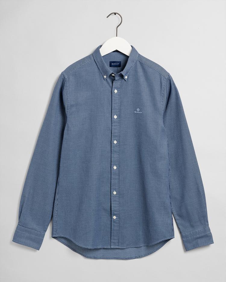 GANT Erkek Mavi Puantiyeli Slim Fit Gömlek