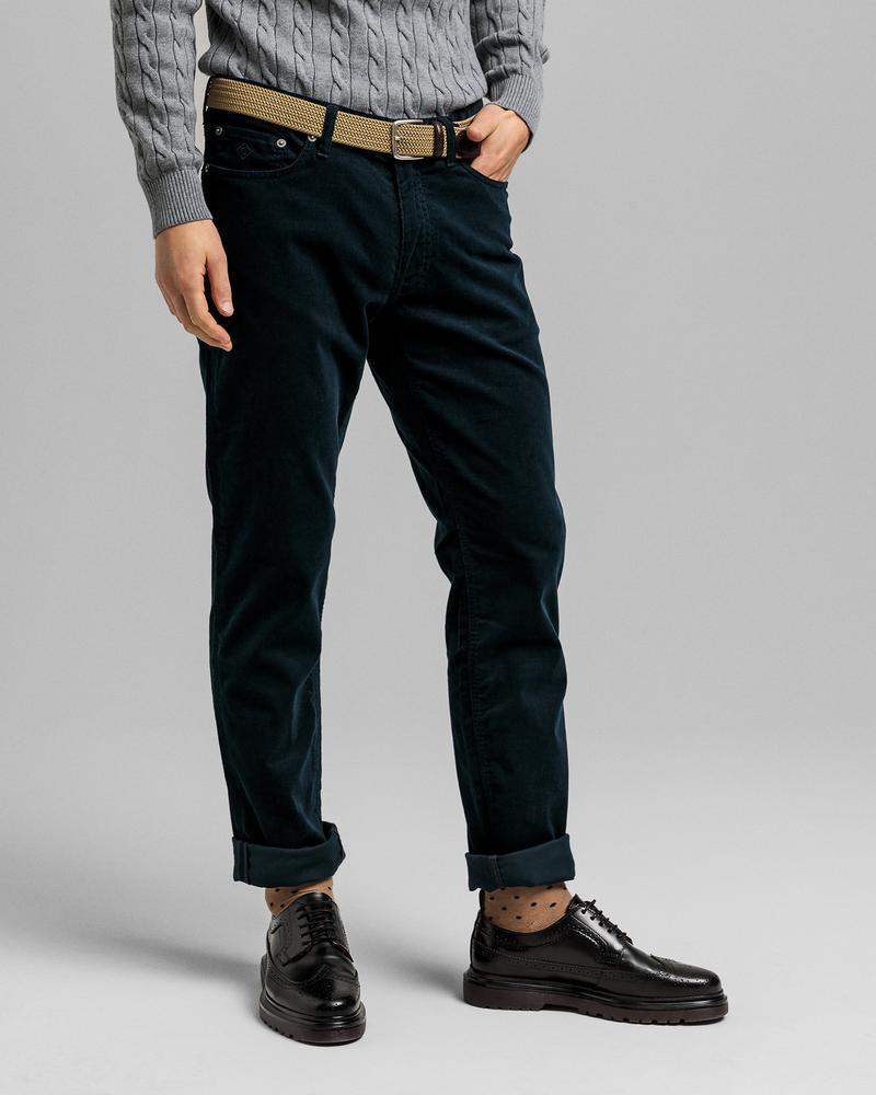 GANT Erkek Lacivert Tapered Fit Pantolon