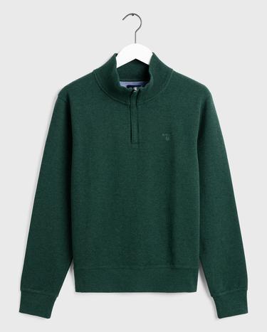GANT Erkek Yeşil Fermuarlı Sweatshirt