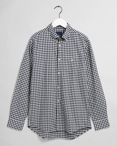 GANT Erkek Beyaz Regular Fit Kareli Gömlek