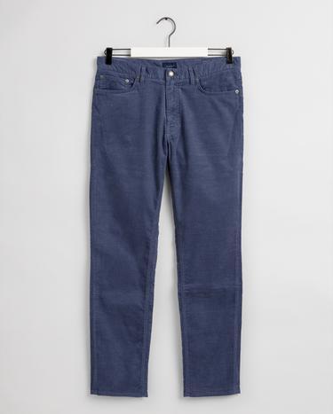 GANT Erkek Mavi Tapered Fit Pantolon