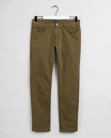 GANT Erkek Koyu Yeşil Tapered Fit Pantolon