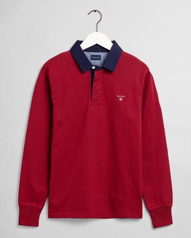 GANT Erkek Kırmızı Polo Yaka Sweatshirt