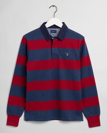 GANT Erkek Kırmızı Çizgili Sweatshirt
