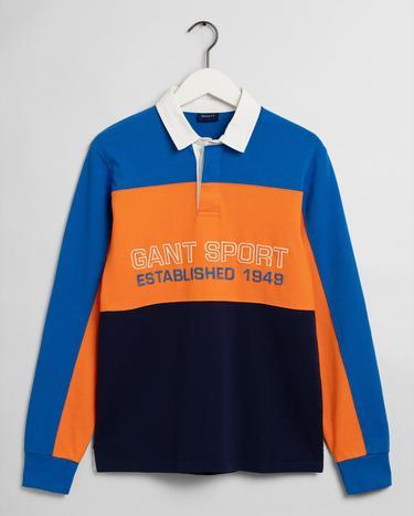 GANT Sport Erkek Mavi Sweatshirt